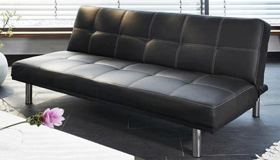 schlafsofa leder. Black Bedroom Furniture Sets. Home Design Ideas