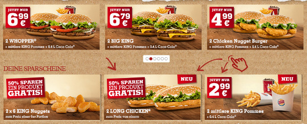 Burger king coupons ausdrucken