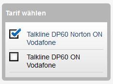 modeo talkline tarif norton