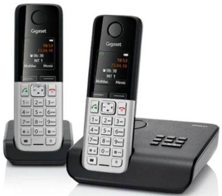 gigaset c300a duo festnetztelefon mit anrufbeantworter