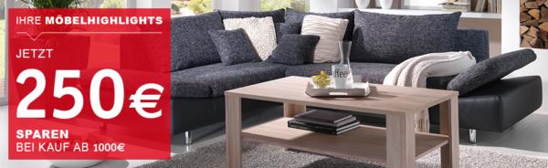 xxxl shop gutschein m bel 250 reduziert ab einem bestellwert von 1000. Black Bedroom Furniture Sets. Home Design Ideas