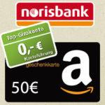 *Endet bald!* norisbank Girokonto (komplett kostenlos + Kreditkarte) mit 50€ Amazon.de-Gutschein*