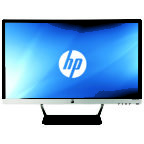 HP Pavilion 27cw 27-inch IPS Monitor, black, center facing