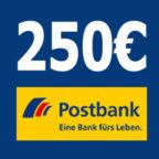 *Kracher* Postbank: Bis zu 250€ Prämie für kostenloses Girokonto