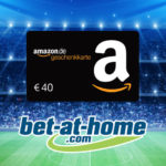 Nur 100x: bet-at-home mit 40€ Amazon.de Gutschein* geschenkt für 30€ Wetteinsatz