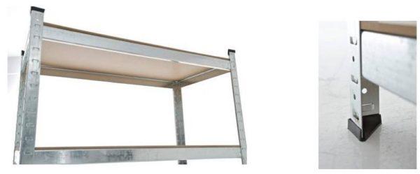 CLP verzinktes Schwerlastregal, aus Metall, mit 875kg Tragkraft, 90x40x180 bsp