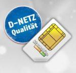 Telekom-Netz: 100 Min. + 1GB für 4,99€/Monat + 1 GRATIS-Monat + 50€ Rufnummerbonus (oder 2GB für 7,95€)