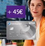 Barclaycard New Visa mit 45€ Bonus - dauerhaft beitragsfrei