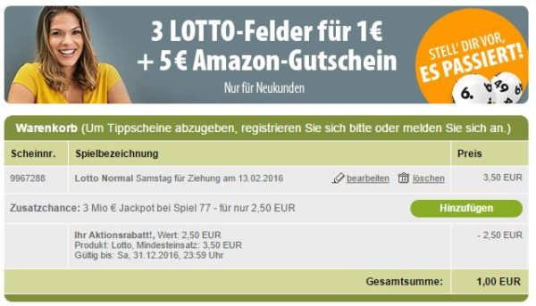tipp24 amazon lotto nk
