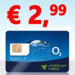 o2: 50 Min + 50 SMS + 1GB LTE Surf-Flat für 2,99€/Monat