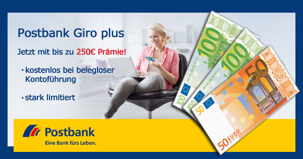 Postbank 250 Prämie