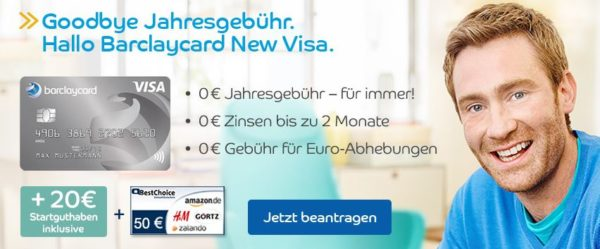 schnell 70 pr mie f r barclaycard new visa dauerhaft beitragsfrei. Black Bedroom Furniture Sets. Home Design Ideas
