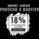 18% Rabatt auf Proteine & Booster bei Fitmart