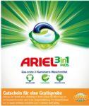 Gutschein für eine GRATIS Probe von Ariel 3 in 1Pads bei Globus 😊