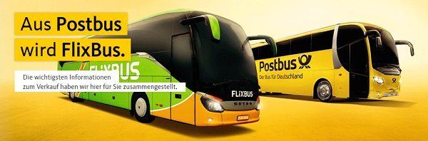 Postbus wird Flixbus iBB