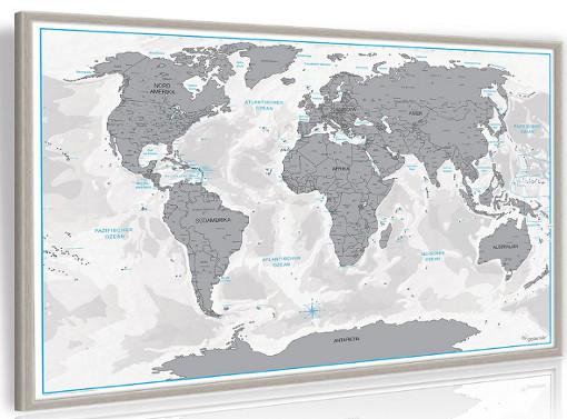 Rubbelweltkarte mit Rahmen