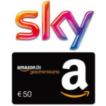 Sky mit 50% Rabatt + 50€ Amazon.de-Gutschein* + 0€ Aktivierungsgebühr (statt 59€)