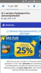 25% Playstation Plus Mitgliedschaft
