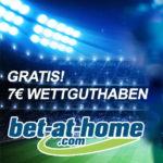 GRATIS: 7€ Wettguthaben bei bet-at-home (Neukunden)