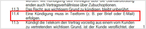 kuendigung-telekom-textform