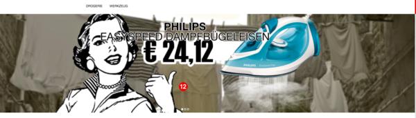 top12 - z.B. ein Dampfbügeleisen von Philips