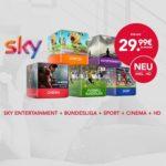 Sky Komplett + HD für 29,99€ / Monat, kein Anschlusspreis!