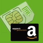 3x 5€ Amazon.de-Gutschein* für Fyve GRATIS Prepaid-Karte mit 500MB (je einmalig 2,50€ Versand)