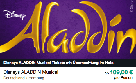 Aladdin ab 109€ pro Person
