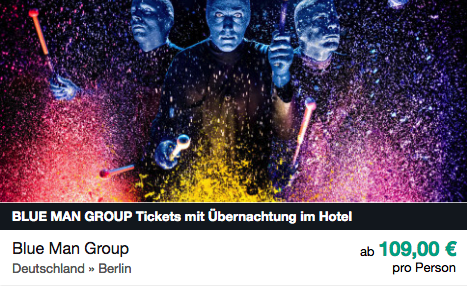 Blue Man Group ab 109€ pro Person