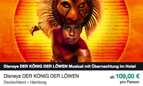Der König der Löwen ab 109€ pro Person