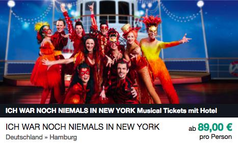 Ich war noch niemals in New York ab 89€ pro Person