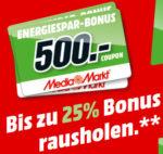 Bis zu 500€ Media Markt Gutschein beim Kauf ausgewählter Produkte erhalten