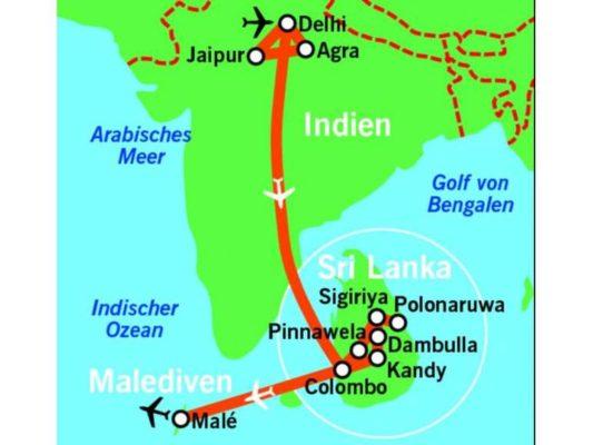 15 tage rundreise durch indien sri lanka und malediven inkl hotels fr hst ck und. Black Bedroom Furniture Sets. Home Design Ideas