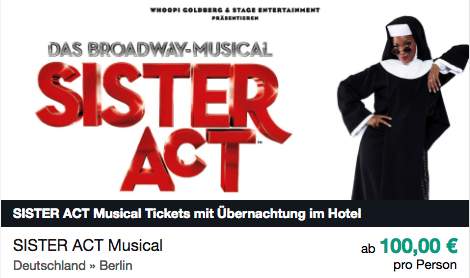 Sister Act ab 100€ pro Person