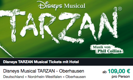 Tarzan Musical ab 109€ pro Person