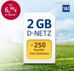 250-400 Min/SMS + 2GB LTE für 6,99€ (oder 3GB / 4GB) im D2- oder o2-Netz *NEU: 0€ Anschlussgebühr + bis 50€ Startguthaben!*