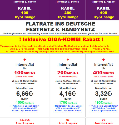 vodafone kabel internet tarife mit cashback z b 1 jahr 400 mbit s 1 jahr 32 mbit s ab eff 3. Black Bedroom Furniture Sets. Home Design Ideas