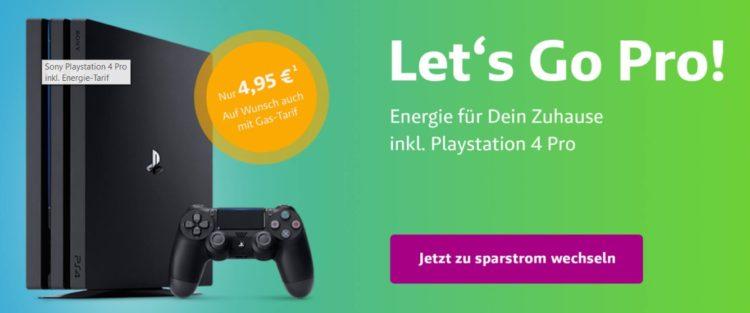 Playstation 4 Pro als mögliches Extra beim Wechsel zu Sparstrom