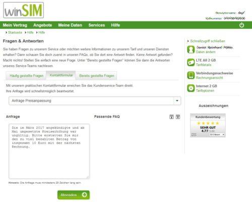 Winsim-Preiserhöhung-Erstattung-Gutschrift