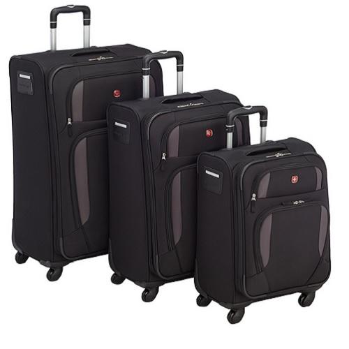 3er kofferset auf 4 rollen 51 61 72 cm von wenger lugano. Black Bedroom Furniture Sets. Home Design Ideas
