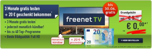 Dvb T2 Hd Freenet Tv 3 Monate Gratis Testen 20 Geschenkt