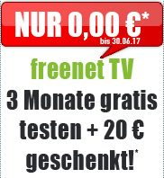 DVB-T2 HD Freenet TV 3 Monate gratis testen + 20€ geschenkt