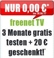 DVB-T2 HD Freenet TV 3 Monate gratis testen + 20€ geschenkt