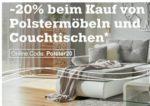 Mömax: 20% Rabatt auf Polstermöbel und Couchtische!