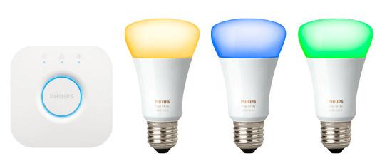 led lampen philips hue starter set inkl bridge f r 129 statt 142. Black Bedroom Furniture Sets. Home Design Ideas