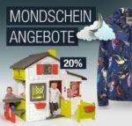 Galeria Kaufhof Mondscheinangebote bis 8 Uhr: 20% auf Outdoorspielzeug (Nerf, Super Soaker), Sportcaps, Barbie, Haushaltswaren u.v.m.