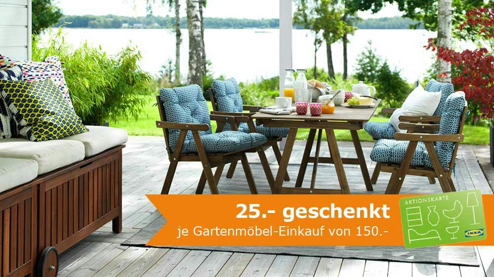 25€ geschenkt je Gartenmöbel-Einkauf von 150€ bei ikea