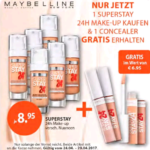 Maybelline 24H Make up kaufen, 1 Concealer Gratis