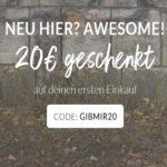 Second Hand-Kleidung: 20€ Gutschein mit 40€ MBW bei Ubup + versandkostenfrei