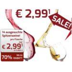 Weinvorteil: Sonderverkauf mit 14 Weine für nur je 2,99€ (MBW: 6 Flaschen)